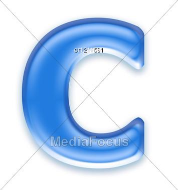 Aqua Letter - C Stock Photo