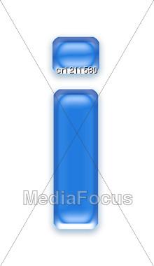 Aqua Letter - I Stock Photo