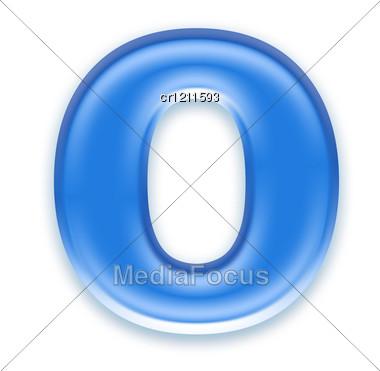Aqua Letter - O Stock Photo