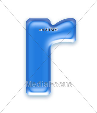 Aqua Letter - R Stock Photo