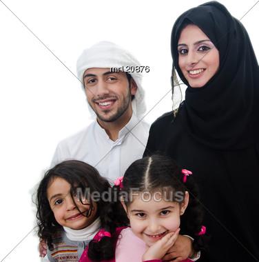 Arab Family Stock Photo