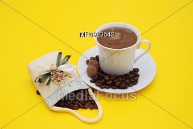 "Arabic ""Turkish"" Coffee Stock Photo"