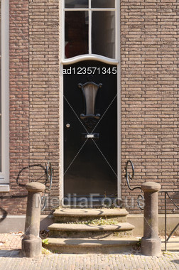 Architectural Detail Of Entrance With Door Stock Photo