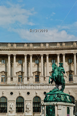 Architectural Monuments And Buildings Of Europe, Parts, Statues And Columns. Austria. Vienna Stock Photo