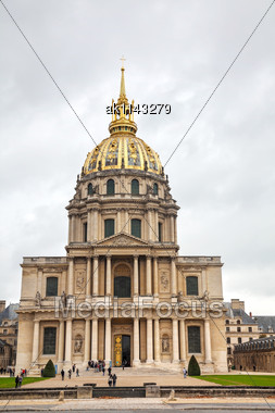 Army Museum In Paris, France On A Cloudy Day Stock Photo