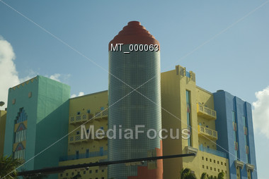 Art Deco Buildings at Southbeach - Miami, FL USA Stock Photo