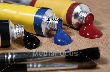 Art Still Life On The Wooden Palette Stock Photo