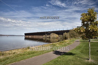 Ashland Wisconson Lake Front Scenic Lake Superior Bay Stock Photo