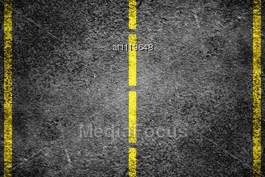 Asphalt Road Surface Stock Photo