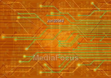 Assembly Diagram Illustration On An Orange Background Stock Photo