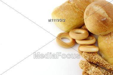 Assortment Of Fresh Baked Bread Stock Photo