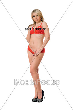 Attractive Young Blond Woman. Stock Photo