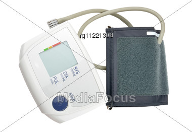 Automatic Blood Pressure Monitor Stock Photo