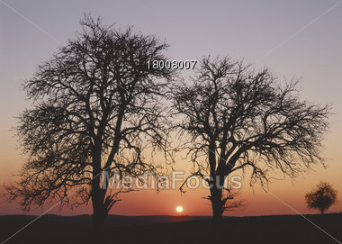 Autumn Sunset Stock Photo