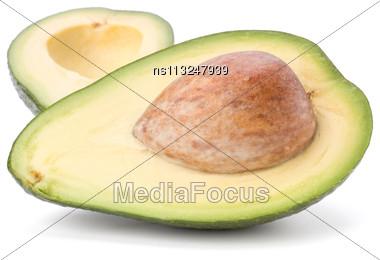 Avocado Isolated On White Background Stock Photo