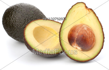 Avocado Vegetable Isolated On White Background Stock Photo