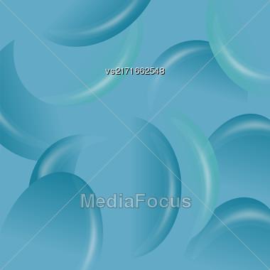 Azure Candy Background. Set Of Azure Jelly Beans Stock Photo