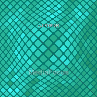 Azure Diagonal Square Pattern. Abstract Azure Square Background Stock Photo
