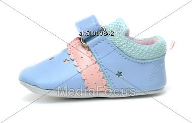 Baby Shoe Isolated On White Stock Photo