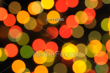 Background Consists Of Blurred Multi Coloured Sparks Stock Photo