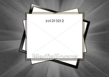 Background With Frames In The Form Of Squares Stock Photo
