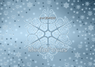 Background From Snowflakes For A Christmas Theme Stock Photo
