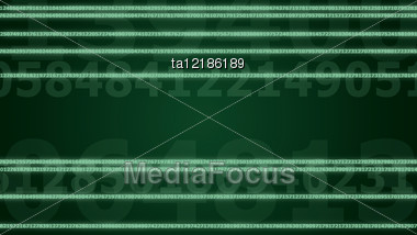 Background Image, Digital Technology Concept: Glowing Lines Of Digits Stock Photo