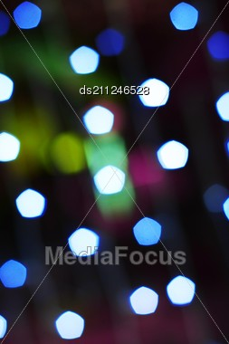 Background Of Multi Colored Spots Of Light Stock Photo