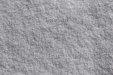 Background Of Fresh White Snow Stock Photo