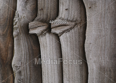 Background Of Wood Planks With Knots Stock Photo