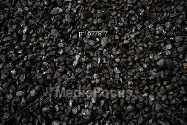 Background Of Pea Coal From New Zealand Brown Coal Mines, Commonly Used In Steam Boilers Stock Photo