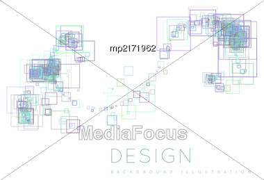 Background Of The Squares In A Modern Style. Vector Illustration Stock Photo