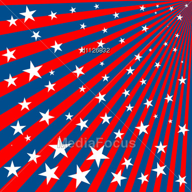 Background Stars And Stripes For 4th Of July Stock Image