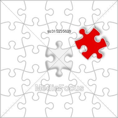 Background Vector Illustration Jigsaw Puzzle Stock Photo