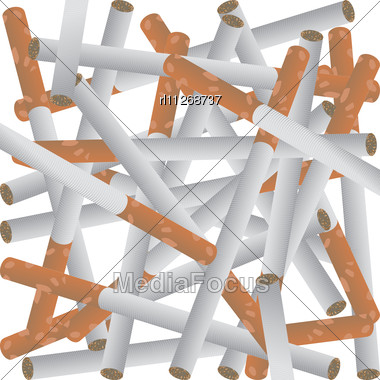 Background With Cigarettes Stock Photo