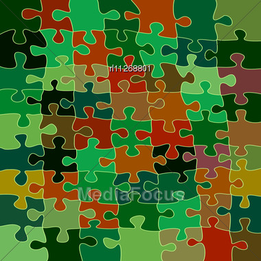 Background With Puzzle Pieces Stock Photo