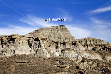 Badlands Alberta Drumheller And Dinasaur Park Canada Stock Photo