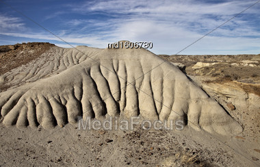 Badlands Alberta Drumheller And Dinasaur Park Canada Stock Photo