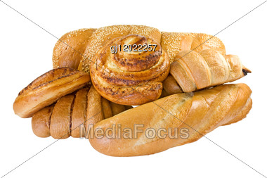Bakery Foodstuffs Set Stock Photo
