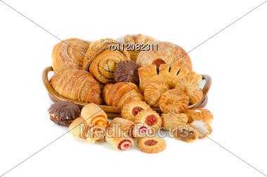 Bakery Foodstuffs Set Stock Photo