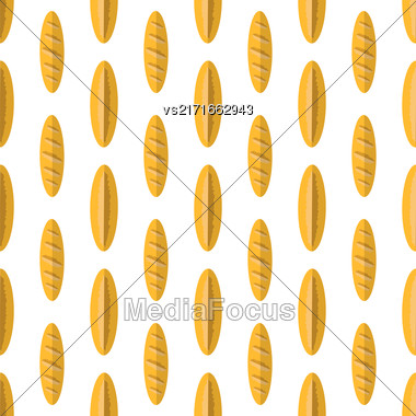 Bakery Seamless Pattern. Food Background. Fresh Baked Products Stock Photo