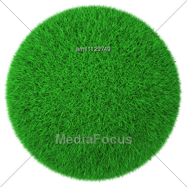 Ball Made Of Green Grass Stock Photo