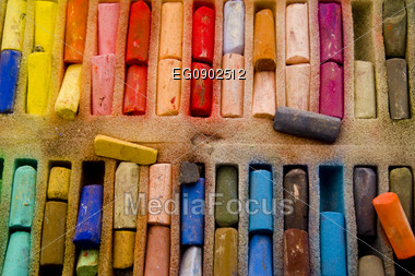 Bars pastel painting in a box Stock Photo