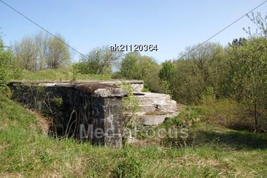 Base Of A Coastal Artillery Piece 1900 Stock Photo