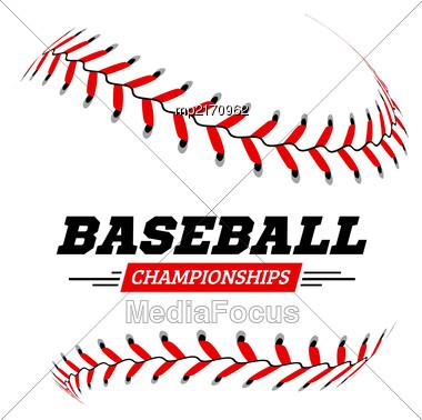 Baseball Ball On White Background Vector Illustration Stock Photo