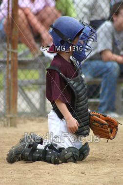 Baseball Catcher Stock Photo