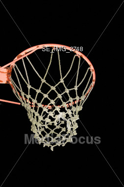Basketball Hoop Stock Photo