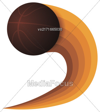 Basketball Orange Icon Isolated On White Background Stock Photo