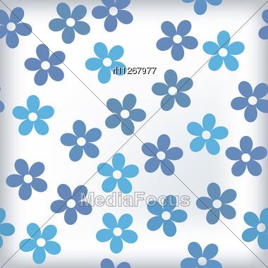 Stock Photo Bath Tile Sealess Floral Motif Colors
