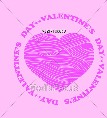 Be My Valentine Romantic Banner On Pink Background Stock Photo